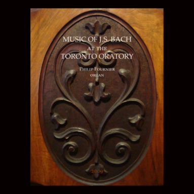 Album cover for Music of J.S. Bach at the Toronto Oratory